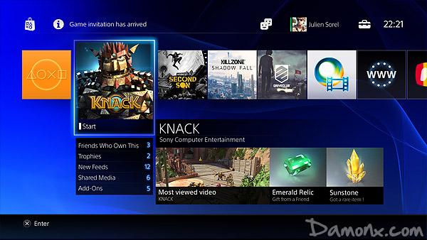 L'interface Utilisateur de la PS4 en Images