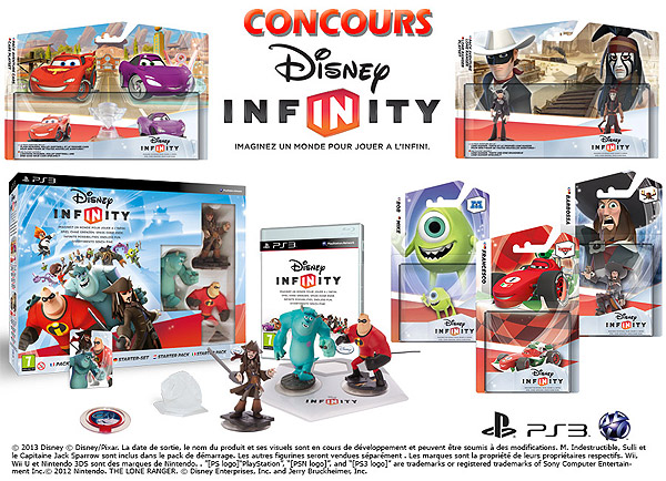 concours disney infinity jeux et figurines gagner concours. Black Bedroom Furniture Sets. Home Design Ideas